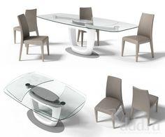 Orbital extending table designed by pininfarina Calligaris   CS/4064 ...