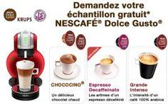 Testez nescafé grâce à cet échantillon de cfé fait pour fonctionner avec les cafetières dolce gusto que l'on trouve dans nos supermarchés.