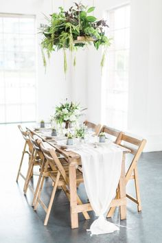 Floral Chandelier for A Luxe Industrial Wedding Shoot Featuring Kate Halfpenny And Belle And Bunty Gowns - The Gallery - Wedding Blog | The Wedding Bazaar