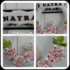 Guirlanda de fuxico para Nayra