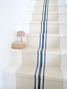 Unfinished Basement Ideas – Lots of home owners integrate a basement to their house. However, the basement is often designed ineffectively, reducing its functional value. Many of home owners do not . Painted Stairs, Painted Floors, Stenciled Stairs, Painted Staircases, Painted Rug, Spiral Staircases, Deco Cool, Sweet Home, Basement Stairs