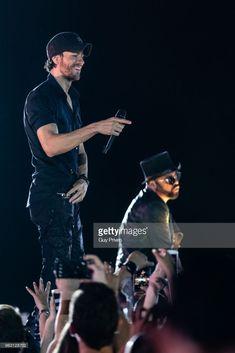 Enrique Iglesias at Park HaYarkon on May 27, 2018 in Tel Aviv, Israel.
