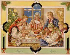 Traditional Polish Christmas Card