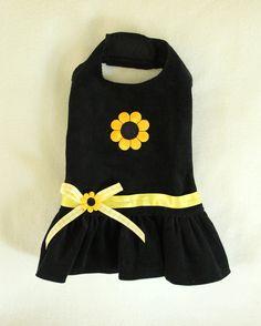 PC Dog sells sunflower black corduroy dog dress – PC Dog❤❤❤