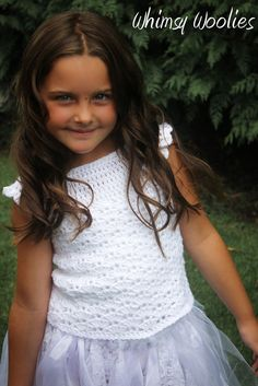 Crochet Dress Pattern: Flower Girl/Wedding First Communion by whimsywoolies   Etsy