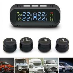 4 External Sensor For Luxes Ford LCD Tire Tyre Pressure Monitoring System TPMS