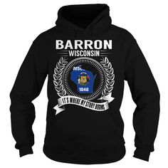 Barron, Wisconsin - Its Where My Story Begins T Shirts, Hoodies. Check price ==► https://www.sunfrog.com/States/Barron-Wisconsin--Its-Where-My-Story-Begins-Black-Hoodie.html?41382