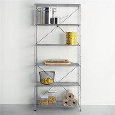 MAX Chrome 6-Shelf Unit  | Crate and Barrel