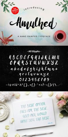 Free hand painted typeface! Amulhed Brush is a brilliant font that is this week's Free Font of The Week (until 7 June 2016). It is also PUA Encoded meaning that it is fully accessible to everyone and all glyphs are available in Character Map on Windows and Fontbook on Mac.