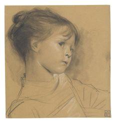 Gustav Klimt, Annerl, 1885 on ArtStack #gustav-klimt #art
