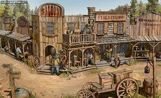 1849 - Town Illustration by Docslav---GE on deviantART