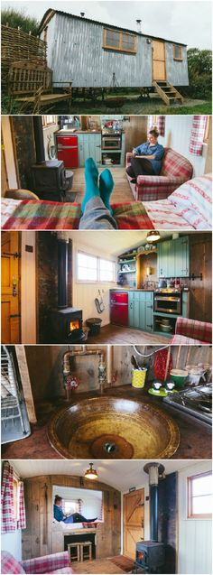 She Was Dreaming of a Tiny Shepherd& Hut, So She Built It Herself - On the Cornish coastline is a very special house. This tiny shepherd& hut was built entirely by its owner and several awesome friends who were willing to lend a hand in its creation.