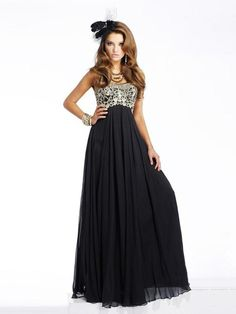 Off-Shoulder Chiffon Tiered Evening Dress with Embroidered