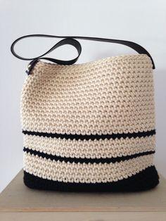 Paola Cognigni bag bicolore in cotone