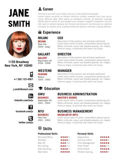 find the red creative resume template on wwwcvfoliocom - Fashion Design Resume Template