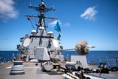 200828-N-LI768-2386 | PACIFIC OCEAN (Aug. 28, 2020) Guided-m… | Flickr Gun Turret, Mass Communication, United States Navy, Hawaiian Islands, Battleship, Us Navy, Pacific Ocean, Armed Forces, Law Enforcement