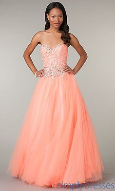 Alcye Beaded Ball Gown at SimplyDresses.com