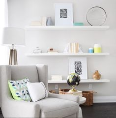 Styled open shelving is one of our favourite ways to bring a room to life, and the trick to getting it right is pretty simple:  Play around, step back, and go with your gut. Experiment with colour groupings, symmetry, asymmetry, negative space, and unique objects and snap a few photos while you work to keep track of your favourite vignettes. Remember, nothing is glued down. You can hit refresh as many times as you want to keep your space feeling fun and intriguing.