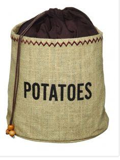 Potato sacks keep them fresher for longer. HowardsStorageWorldToowoomba