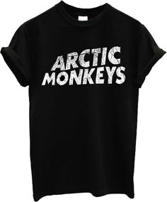 Arctic Monkeys Alex Turner Logo Band T shirt Top T-Shirt (Large, Black)