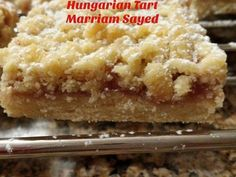 Shortbread Jam Fingers/ Hungarian Tart recipe by Foodeva Marsay (marriam S) posted on 21 Jan 2017 . Recipe has a rating of by 6 members and the recipe belongs in the Biscuits & Pastries recipes category Pastry Recipes, Tart Recipes, Baking Recipes, Sweet Recipes, Diwali Recipes, Apricot Squares Recipe, Hungarian Recipes, Hungarian Cuisine, Jam Tarts