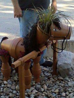 Terra Cotta Pot Horse Planter:) So Stinkin Cute! IMAGE ONLY.