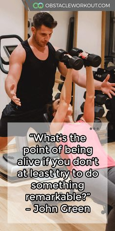"""What's the point of being alive if you don't at least #try to do something remarkable?"" – John Green https://obstacleworkout.com/ #Fitness #Workout #WorkoutMotivation"