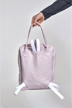 Square Bag Backpack - Candy Pink
