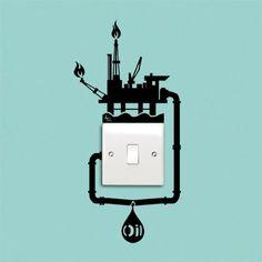 Oil spill reminder sticker