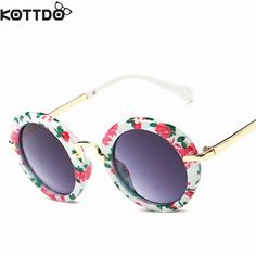 KOTTDO Fashion Round Cute Brand Designer Child Sunglasses Anti-uv Baby Vintage Glasses Girl Cool Eyewear Boys Kids Oculos Like and share this pure awesomeness! #shop #beauty #Woman's fashion #Products #Classes