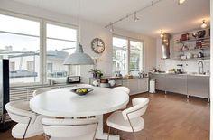 Amazing Open Kitchen Dining Area Top Floor Apartment In Stockholm