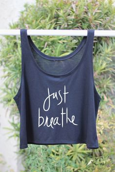 Just Breath - Yoga Crop Top Tank by ArimaDesigns.etsy.com