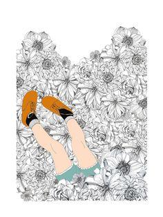 Illustration par Sophie Truant éditée par L'illustre Boutique en 30 exemplaires Signée et numérotée de la main de l'artiste Impression fine art Papier Fedrigoni Tintoretto Gesso, 250g Garantie Lumière 18 x 24 cm / 7,09″ x 9,45″ [Vendue sans cadre] Illustrations, Boutique, Plastering, Impressionism, Hands, Artist, Paint, Creative Crafts, Paper