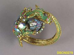 Vintage costume dragon ring by HAR