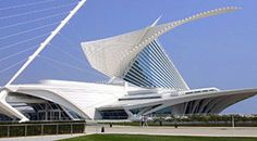 Milwaukee Art Museum. Designed by Santiago Calatrava. AhhhhMazing! The gallery itself ain't bad either.