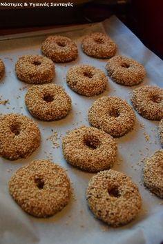Greek Sweets, Greek Desserts, Greek Recipes, Baby Food Recipes, Cookie Recipes, Dessert Recipes, Healthy Cookies, Healthy Sweets, Greek Cookies