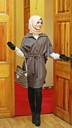 Fall look #tesettur #basortusu #sal #abiye #ferace #moda #hijab #hijabstyle #hijabfashion