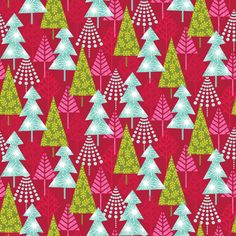 Hip Forest in Red, from Hip Holiday from Josephine Kimberling for Blend Fabrics. This cool collection, with it's bold colors and contemporary patterns gives a modern flair to the Christmas season!