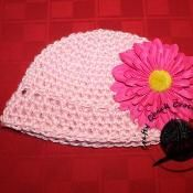 Baby Girl Flower Hat - via @Craftsy