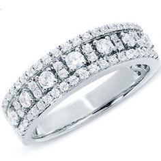 0.75 Carat (ctw) 14k White Gold Round Diamond Ladies Anniversary Wedding Band Ring 3/4 CT (Size 7) - 0.75, 14k, Anniversary, Band, carat, ctw, Diamond, Gold, Ladies, Ring, Round, Size, Wedding, White