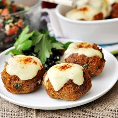 Carrot & Sundried Tomato Meatballs (Rissoles) with Cheese Sauce