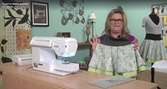 Deb Barcello on the set of It's Sew Easy with her City Life skirt!