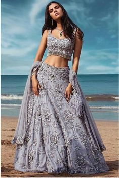 Latest Collection of Lehenga Choli Designs in the gallery. Lehenga Designs from India's Top Online Shopping Sites. Indian Bridal Outfits, Indian Designer Outfits, Designer Bridal Lehenga, Lehnga Dress, Indian Gowns Dresses, Indian Lehenga, Dress Indian Style, Indian Couture, Indian Attire