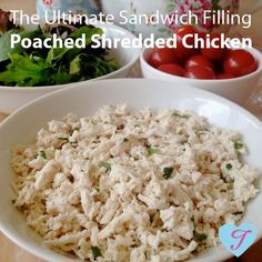 Poached Shredded Chicken has fast become one of my families favourite recipes - we all love it in our sandwiches! The recipe was given t...