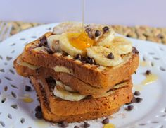 #GlutenFree Banana and Chocolate Chip Stuffed French Toast