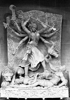 "hinducosmos: "" Clay image of Durga Kumartuli, Calcutta, India (via Flickr: Jim Robinson) "" Jai Ma Ambika"