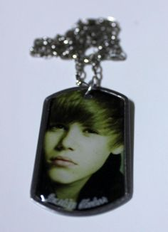Justin Bieber Necklace with his Picture