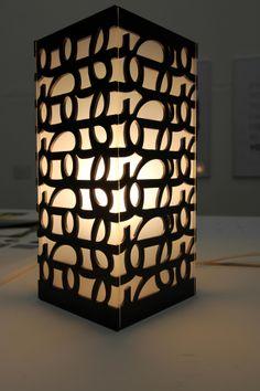 Typographic Lamp by Dinah Merhej, via Behance