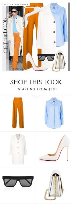 """""""Victoria Beckham - Get the Look"""" by goreti on Polyvore featuring Victoria Beckham, Victoria, Victoria Beckham, N°21, Alberto Biani, Christian Louboutin, CelebrityStyle, polyvoreeditorial, fashiontrick and summer17"""