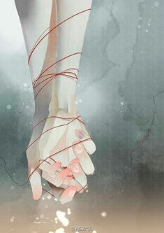 ❥●❥ ♥ ♥ ❥●❥ (if there is a request please send a message or comment on one of the pins) Aesthetic Art, Aesthetic Anime, Anime Hand, Main Manga, Art Sketches, Art Drawings, Red String Of Fate, Desenhos Love, Hand Art